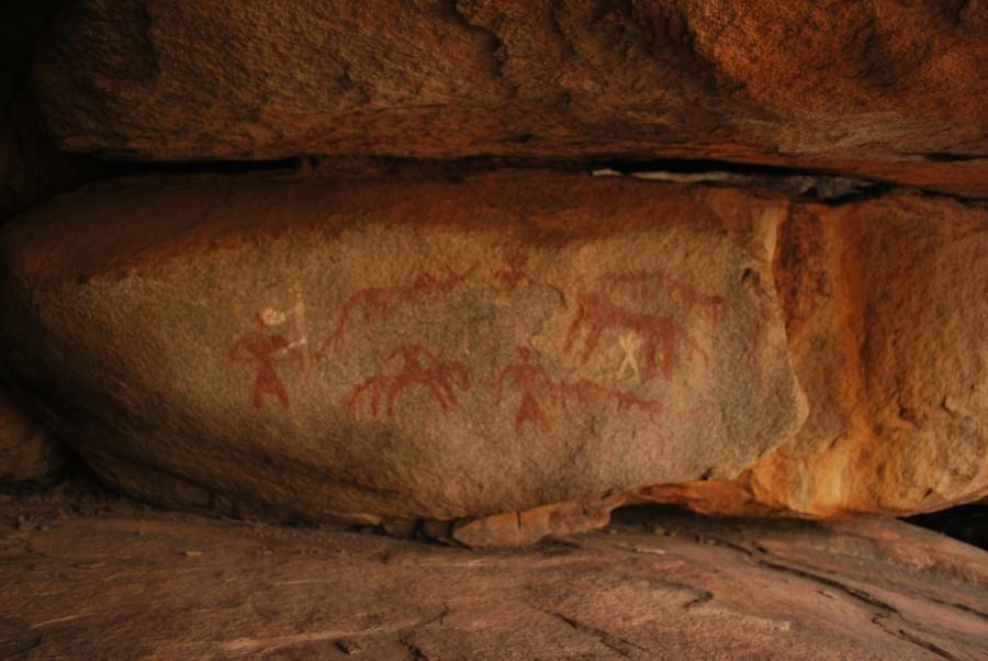 Cave Paintings near Anegundi